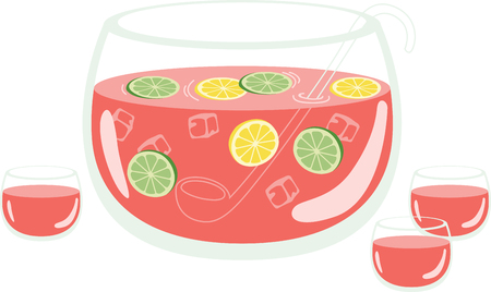 Quench your thirst on a hot day with this refreshing drink that is a delightful blend of colors and flavors!  This design is perfect on all your summer celebrations!