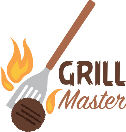 Summertime is synonymous with grilling, parties and get-togethers.  This grilling inspired design will be perfect on towels, aprons, and shirts and gifts!