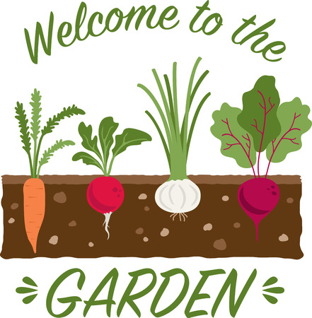 Savor the flavors of everyday real food, fresh from the garden with this design on cozies, kitchen towels and more.