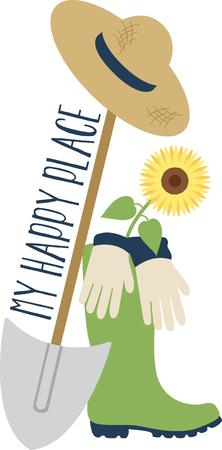 Heb je groene duim? Wees creatief met dit ontwerp op tuinieren schorten, t-shirts en meer voor je tuinliefhebbers.