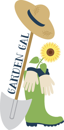Got green thumb?  Get creative with this design on gardening aprons, t-shirts and more for your gardening enthusiasts.