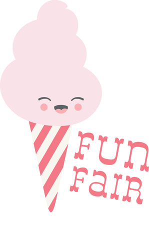 fairs: Candy floss, the yummy candy treat perfect for carnivals, the circus, town fairs and parades!  Indulge in the pinnacle of sugary delights with this design clothing, kitchen linen and more! Illustration