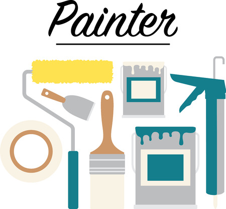 caulk: A great design on carryalls, sweatshirts, jacket backs, quilts, wall hangings, and anywhere else you can think of to recognize your favorite handyman. Illustration