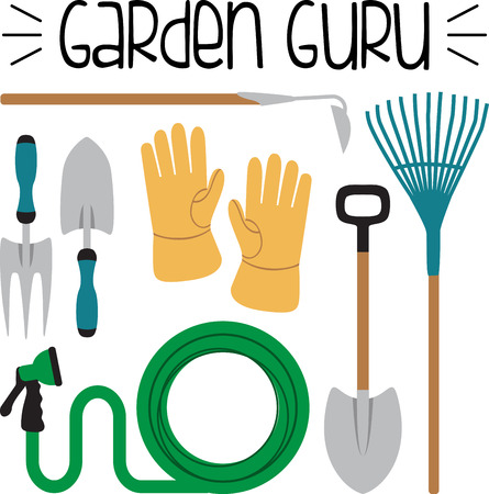 green thumb: Got green thumb. Get creative with this design on gardening aprons, t-shirts and more for your gardening enthusiasts.