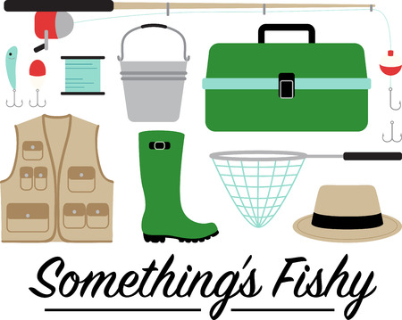 pullovers: Got bite. Get hooked to this relaxing hobby with this design on gear bags, fleece pullovers, T-shirts and more for the fishing enthusiasts in your life.