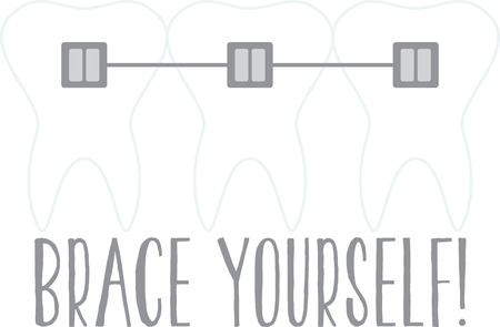 A perfect design to advertise your business.  Get your patients to use dental floss with these quotes on clothing, decor and gifts that encourage great oral hygiene. Stock Vector - 59774603