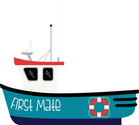 nautical vessel: This sharp design is great for sport fishermen, boaters, and ocean lovers and will look perfect on clothes, towels, gear bags and more.