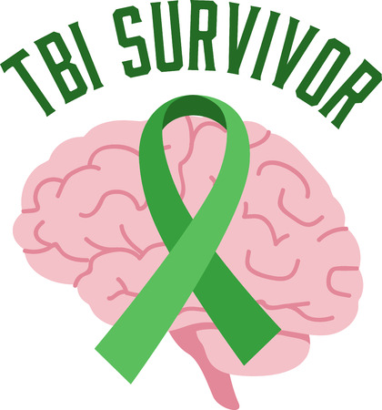 brain injury: Spread awareness of the fight to find a cure for brain injury all year round with this design on shirts, t-shirts, bags and more!