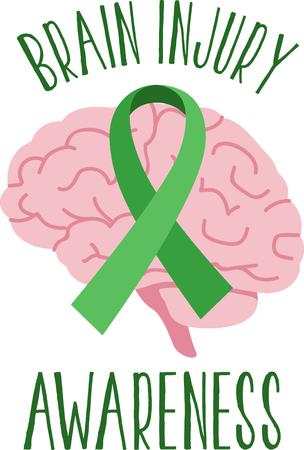 Étendre la sensibilisation de la lutte pour trouver une cure pour la lésion cérébrale toute l'année avec cette conception sur des chemises, t-shirts, sacs et plus!