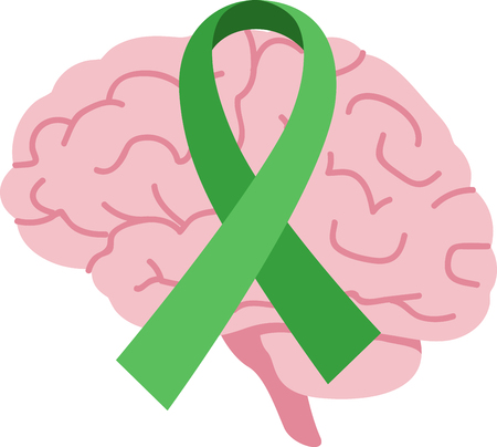 Spread awareness of the fight to find a cure for brain injury all year round with this design on shirts, t-shirts, bags and more!