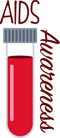 vials: Spread awareness of the fight to find a cure for Aids all year round with this design on shirts, t-shirts, bags and more!