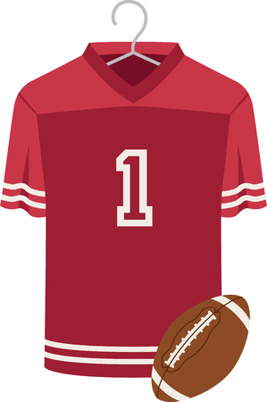 sports jersey: Make a perfect gift every time with this design on t-shirts, sweatshirts, jackets and more for football fans of all ages! Illustration