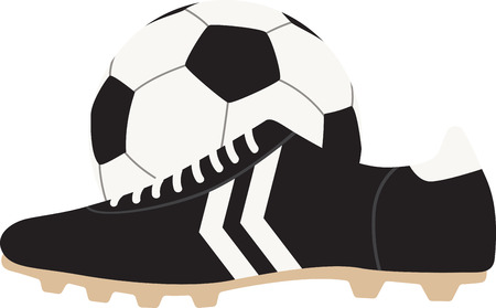 soccer shoe: Make a perfect gift every time with this design on t-shirts, sweatshirts, jackets and more for football fans of all ages! Illustration