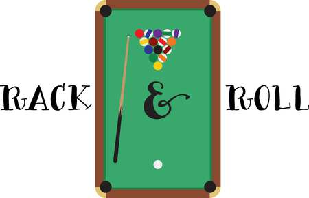 cue sticks: Make a perfect gift every time on t-shirts, sweatshirts, hats and more for the billiard enthusiasts! Illustration