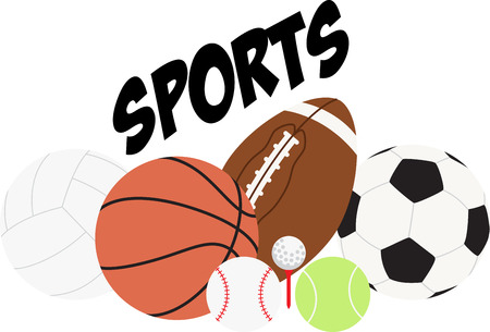 Make a perfect gift every time with this design on t-shirts, sweatshirts, jackets and more for sports lovers of all ages! Illustration