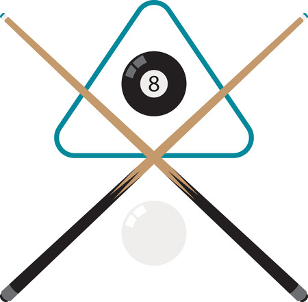 Make a perfect gift every time on t-shirts, sweatshirts, hats and more for the billiard enthusiasts! Vettoriali