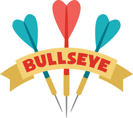bulls eye: Aim, shoot and bulls' eye!  Make a graphic statement with this design on framed embroidery, clothing, throw pillows and more!