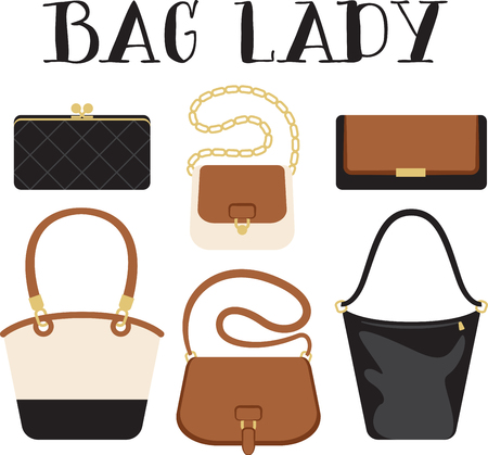 Ladies will love this handbag design. This will look great on banners, throw pillows, tote bags and more.