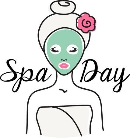Every gal needs a spa day! Relax in style with this lovely design. This will look great on t-shirts, robes, hand towels, cosmetic bags and all your accessories.