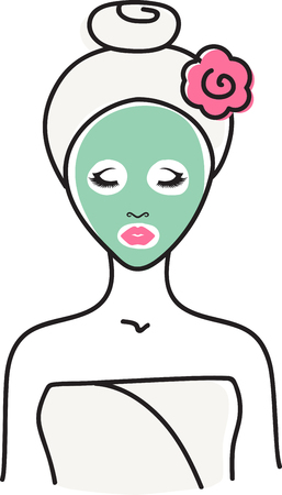 gal: Every gal needs a spa day! Relax in style with this lovely design. This will look great on t-shirts, robes, hand towels, cosmetic bags and all your accessories.