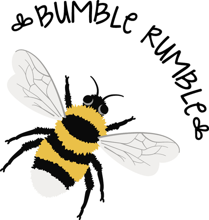 Buzz around in style with this bumble bee design. This will look great on t-shirts, banners, throw pillows, tote bags and more. Ilustracja