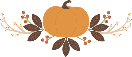 pumpkin border: Personalize your seasonal project with this lovely Fall Pumpkin Border design. This will look great on placemats, hand towels, throw pillows, tote bags and more. Illustration