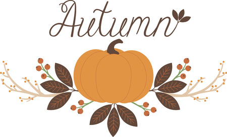 Personalize your seasonal project with this lovely Fall Pumpkin Border design. This will look great on placemats, hand towels, throw pillows, tote bags and more. Illustration