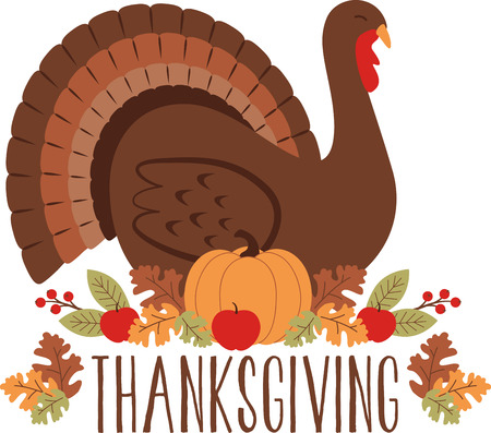 gobbler: Gobble gobble. Celebrate Thanksgiving with this lovely turkey design. This will look great on placemats, sweaters, hand towels, throw pillows, tote bags and more. Illustration