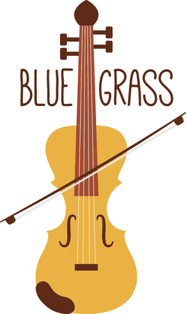 fiddle: Tune up your clothes and accessories with this neat Blue Grass fiddle design.