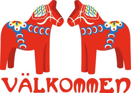 이 깔끔한 스웨덴어 Dala 디자인으로 말의 사랑을 과시하십시오. 이것은 티셔츠, 현수막, 베개, 토트 백 등에서 멋지게 보일 것입니다.