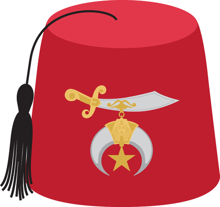Personalize your project with this Fez hat design. This will look great on t-shirts, banners, tote bags and more. Ilustração