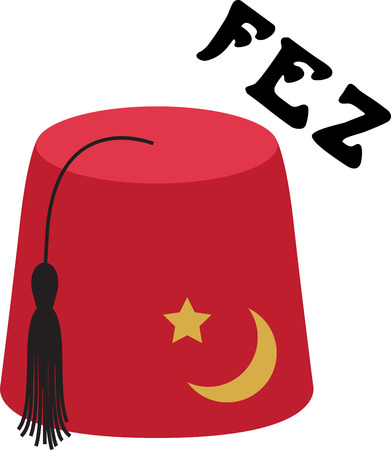 Personalize your project with this Fez hat design. This will look great on t-shirts, banners, tote bags and more. Illustration