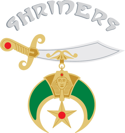scimitar: Rise & Shrine with this Fun, Fellowship, Philanthropy sword design. This will look great on t-shirts, hoodies, banners, tote bags and more. Illustration