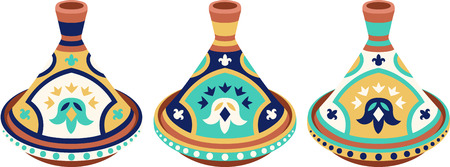Food, family, fun with this neat Terra Cotta Tagine design. This will look great on placemats, hand towels, wall hangings, tote bags and more. Illustration