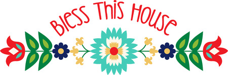 Personaliseer uw project met deze mooie Folk Art Flower Border design. Dit ziet er geweldig uit op placemats, handdoeken, kussens, tassen en nog veel meer.