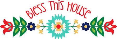 Personalizar su proyecto con este diseño precioso frontera de la flor del arte popular. Esto parecerá grande en manteles, toallas, cojines, bolsas de asas y más.