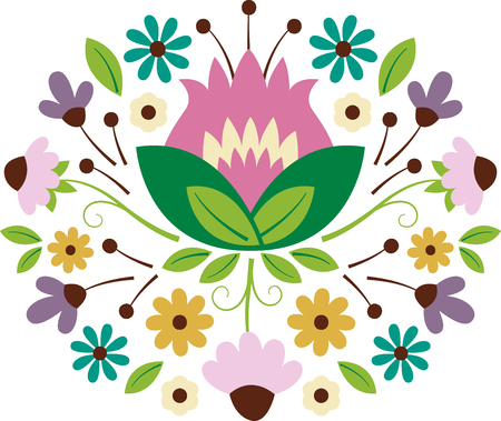 Personalize your project with this lovely floral bouquet design. This will look great on t-shirts, sweaters, hand towels, throw pillows, tote bags and more.