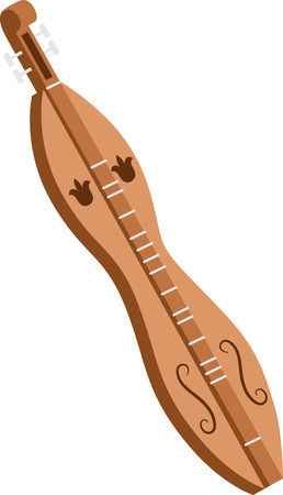 Tune up your clothes and accessories with this neat Dulcimer Musical Instrument design.