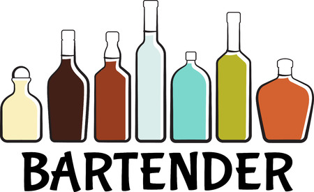 Personalize your project with this Liquor Bottles design. This will look great on banners, t-shirts, placemats, tote bags and more.