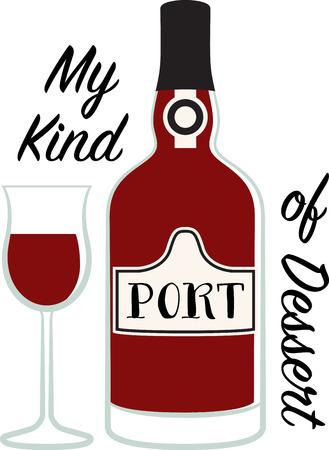 Personaliseer uw project met dit ontwerp Port Dessert Wijn. Dit zal groot op t-shirts, placemats, schorten, tassen en nog veel meer.