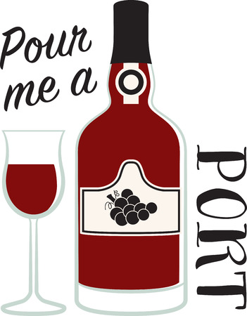 port: Personalize your project with this Port Dessert Wine design. This will look great on t-shirts, placemats, aprons, tote bags and more.