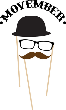 Support No Shave November with this neat Mustache Glasses Hat design. This will look great on t-shirts, hoodies, banners, tote bags and more.