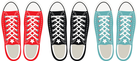 Step back in time with this awesome grunge shoes design. This will look great on t-shirts, hoodies, jackets, tote bags and more. 向量圖像