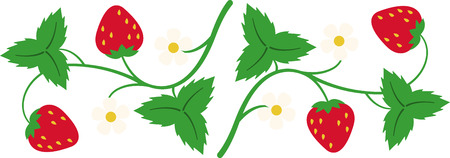Add a sweet touch to your home accessories with this strawberry vine border design.