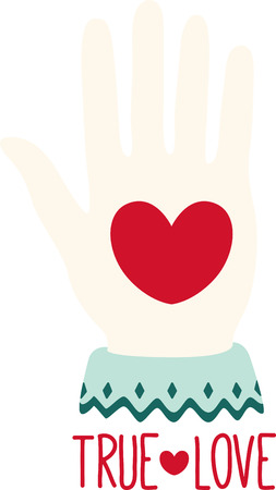 Show off your love with this sweet heart in hand design. This will look great on banners, t-shirts, handmade cards, tote bags and more. Illustration