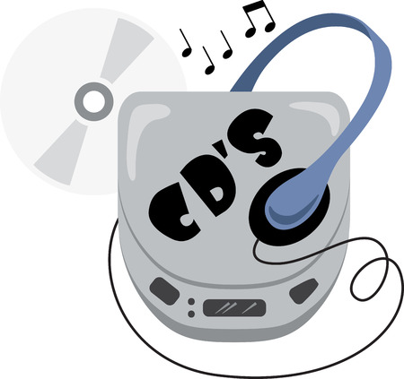Music lovers will enjoy this old school Compact Disc design. This will look great on t-shirts, hoodies, banners, tote bags and more.