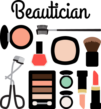 lacquer: Girls of all ages will love this variety of makeup design. This will look great on cosmetic bags, banners, throw pillows, tote bags and more.