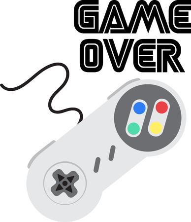 이 멋진 컨트롤러 디자인으로 비디오 게임에 대한 당신의 사랑을 과시하십시오. 이것은 티셔츠, 후드 티, 베개, 토트 백 등에서 멋지게 보일 것입니다. 일러스트