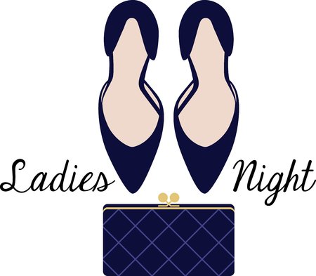 clutch: Fashionistas will love this high heels and clutch design. This will look great on t-shirts, banners, throw pillows, tote bags and more.