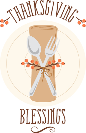 Personalize your seasonal project with this lovely Thanksgiving Place Setting design. This will look great on placemats, aprons, napkins, tote bags and more.
